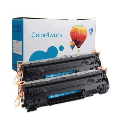 Color4work CE278A Toner Cartridge Black 2 Pack Replacement for HP 78A Canon CRG128 328 728 126 326 Compatible For Canon D530 D550 MF4880DW MF4890DW MF4420N & HP L190 P1566 P1606 P1600 Series Printer