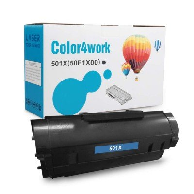 Color4work Compatible Lexmark 50F1X00 Extra High Yield 10,000 Pages, 501X Black Toner Cartridge 1-Pack for Lexmark MS410d MS410dn MS510dn MS610dn MS610de MS610dtn MS610dte Printer