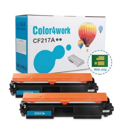 Color4work Compatible Toner Cartridge Replacement for HP 17A CF217A Black, 2-Pack, use for HP Laserjet Pro M102 M102w, MFP M130 M130fn M130fw M130fn Printer