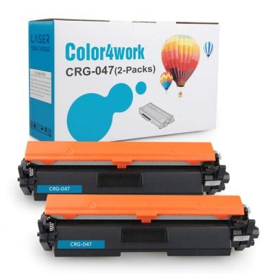 Color4work Compatible Toner Cartridge Replacement for Canon 047 CRG-047 2-Pack High Yield Black, Use with 049 Drum Toner for Canon imageClass LBP110 MF110 LBP113w LBP112 Laserjet Printer